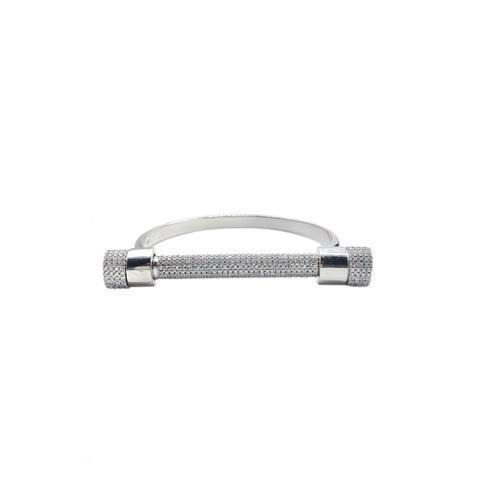 85142 - Браслет Болт из серебра в обсыпке из цирконов (только верхняя часть)