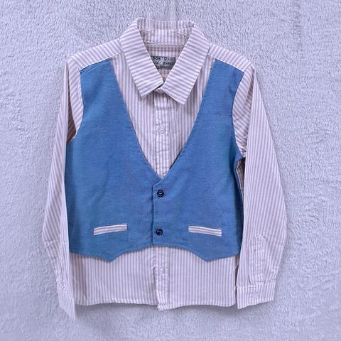 Рубашка-обманка мальчику (6-7) 201223-ОР246С.7