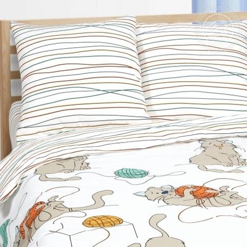 Детское постельное бельё Мягкие лапки ПОПЛИН