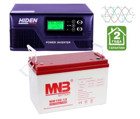 Комплект ИБП HPS20-0412-АКБ MM100 (12в, 400Вт)