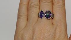 Эсса (кольцо + серьги из серебра)