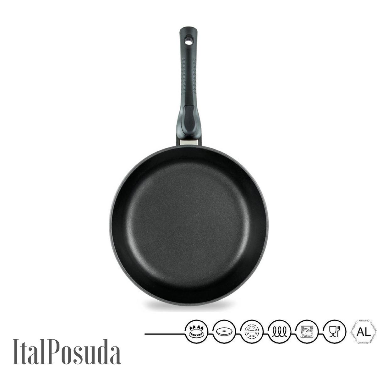 Сковорода со съёмной ручкой НМП Ферра Индукция, 28 см