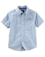 OSH KOSH Рубашка с коротким рукавом в полоску МВ122