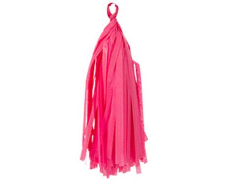 1505-1673 Гирлянда Тассел розовая 3м 10 листов/G