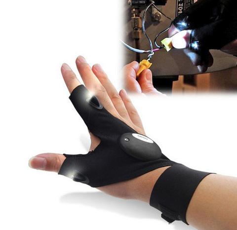 Перчатки со встроенным фонариком Glovelite