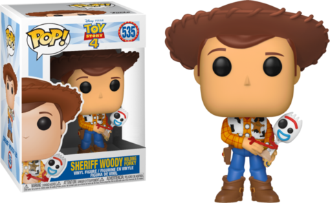 Фигурка Funko Pop! Disney: Toy Story 4 - Woody Holding Forky (Excl. to Hot Topic)