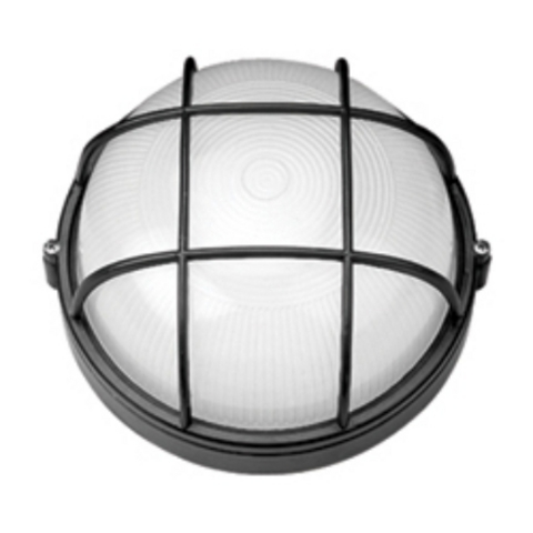 Светильник НПБ1102 черный/круг с реш. 100Вт IP54 TDM