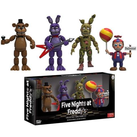 Набор из 4 фигурок: Фредди, Бонни, Спрингтрап и мальчик с шаром