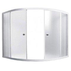 Шторка для ванны 1Marka Luxe 153х153х140 TW каркас белый