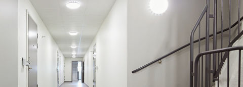 Светильник светодиодный герметичный СПП-A 2105 8Вт 230В 4000К 640Лм с оптико-акустическим датчиком КРУГ IP65 LLT