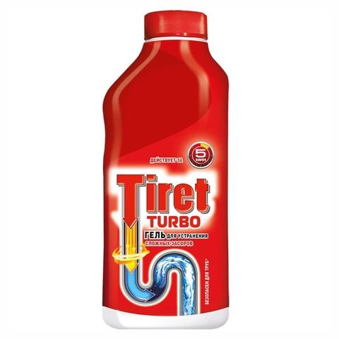 Средство чист TIRET Turbo д/сливных труб 0,5 л РОССИЯ