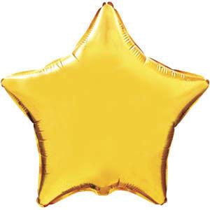 Фольгированный шар Звезда GOLD 18