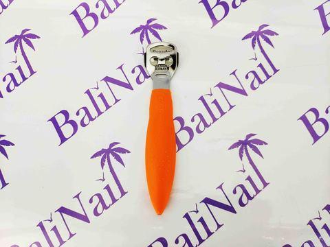 Скребок для педикюра пластиковая ручка (оранжевая), 140 мм