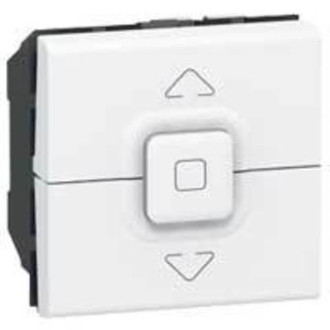 Кнопочный выключатель управления приводами 2 модуля. Цвет Белый. Legrand Mosaic (Легранд Мозаик). 077025