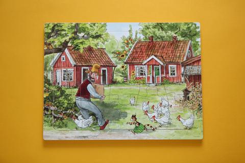 Пазл деревянный «Чужак в огороде»