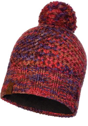 Шапка вязаная с флисом Buff Hat Knitted Polar Margo Maroon фото 1