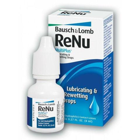 Капли Bausch+Lomb  ReNu  MultiPlus Lubricating &Rewetting Drops 8 мл