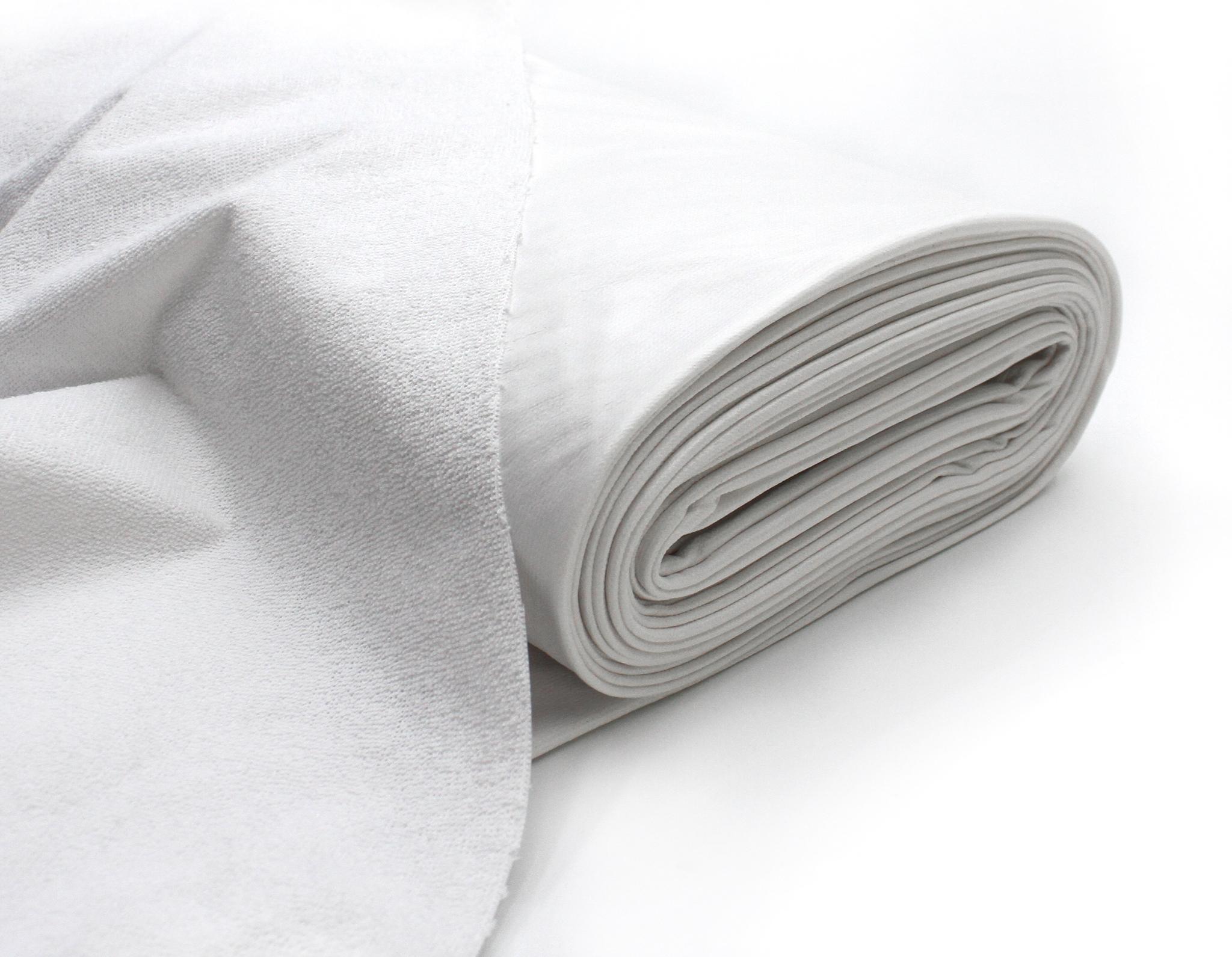 Непромокаемая махра х/б, ширина 205см, белый цвет