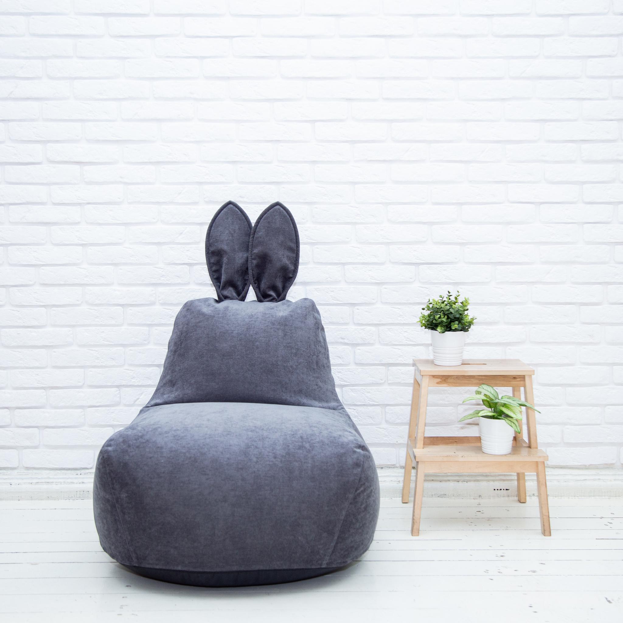 Пуф заяц серый