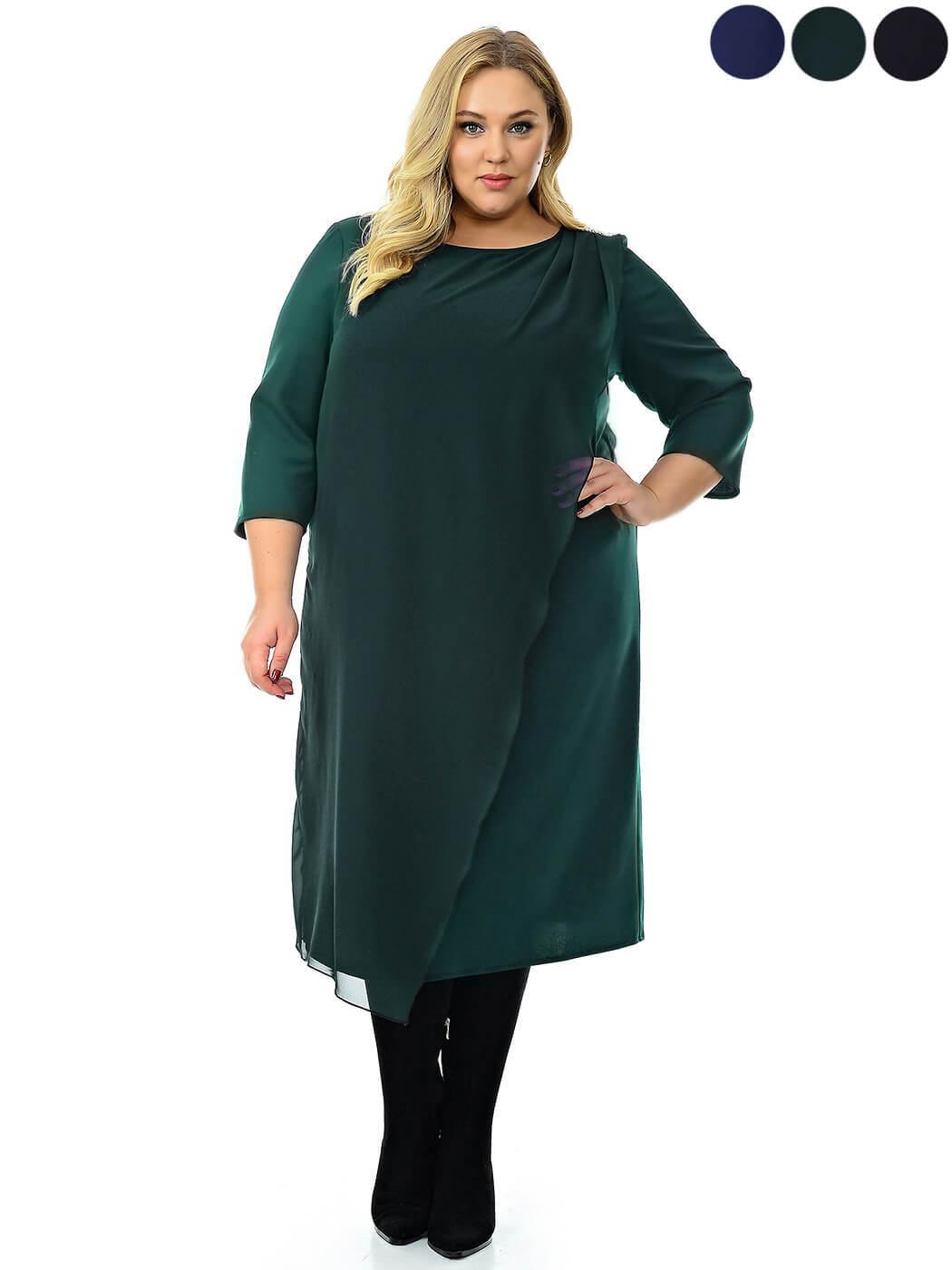 Зеленое нарядное платье купить большие размеры