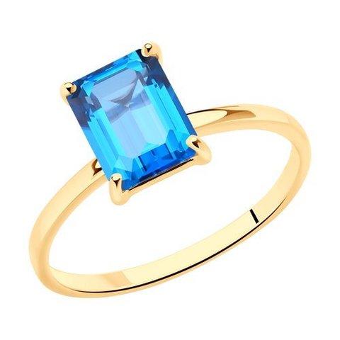 716480 - Кольцо из золота с топазом Swarovski
