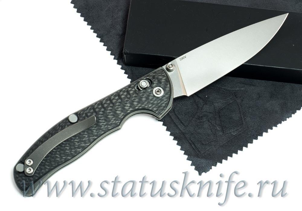 Нож Широгоров Табарган 100NS S90V Карбон - фотография