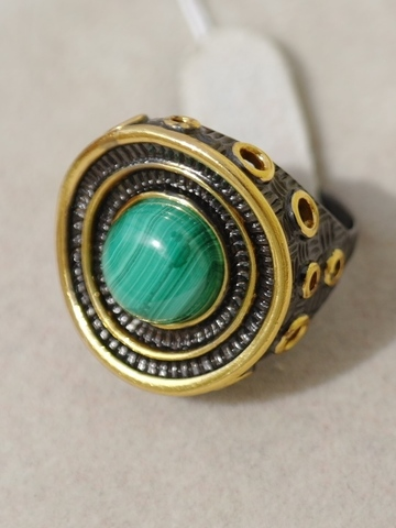 Бавро-малахит (кольцо из серебра)