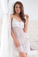 Сексапильная ажурная сорочка Magdalena белая