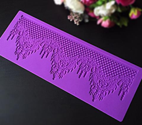 Молд силиконовый для айсинга, кружево 2386 Королевское Кружево
