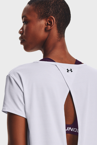 Женская белая футболка UA Tech Vent SS-WHT Under Armour