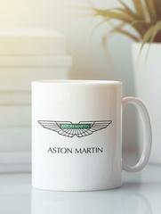 Кружка с рисунком Астон Мартин (Aston Martin) белая 002