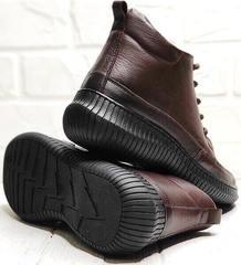 Женские демисезонные ботинки на толстой подошве Evromoda 535-2010 S.A. Dark Brown.