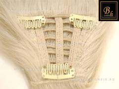 Накладная челка оттенок  #613- блонд  с закругленным концом на 3 клипсы