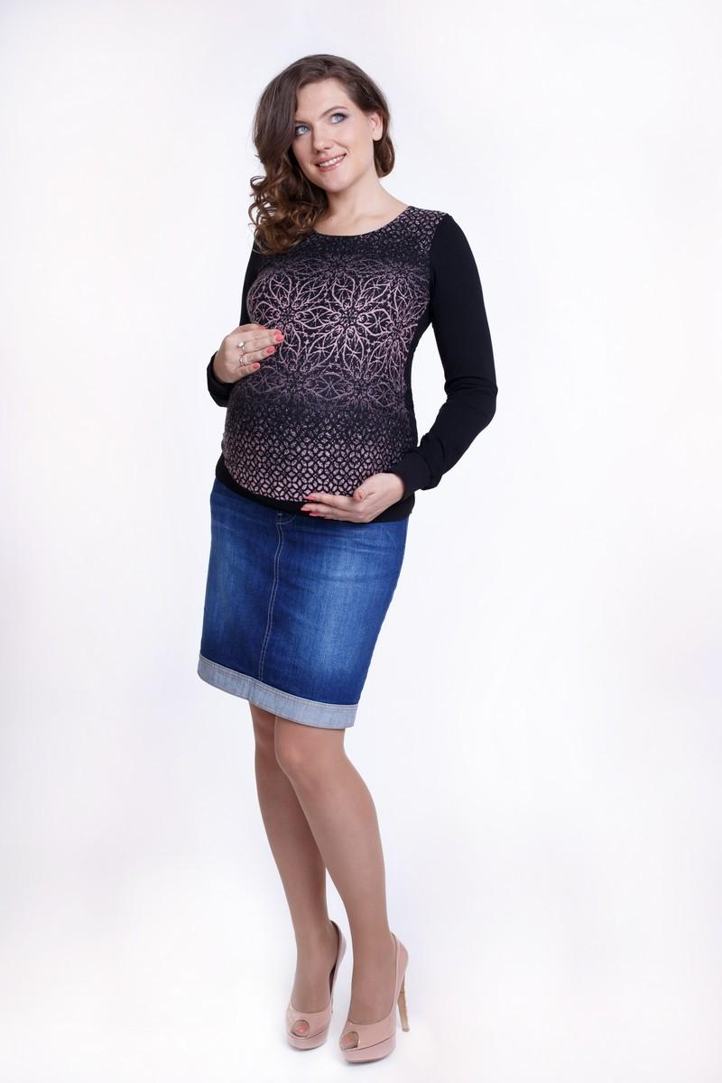 Джемпер для беременных 01831 серый-розовый