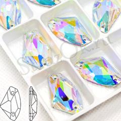 Стразы пришивные стеклянные Galactic Crystal AB, Галактика  Кристал АБ прозрачный с радужным покрытием на StrazOK.ru