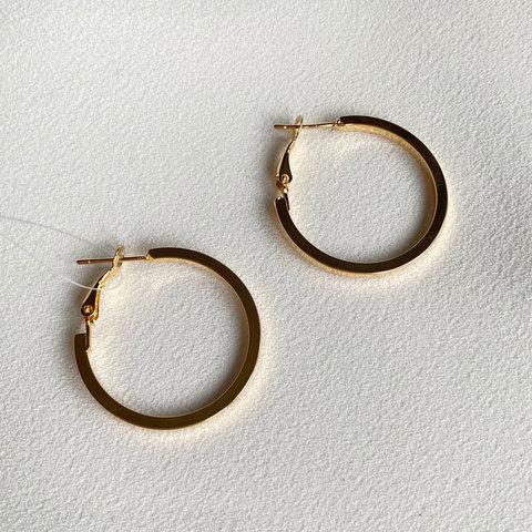 Серьги-кольца (золотистый)