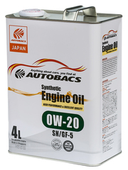 AUTOBACS ENGINE OIL SYNTHETIC 0W20 SN/GF-5 (4л)