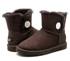 UGG Mini Bailey Button Perla Chocolate