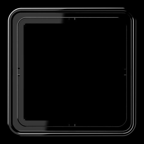 Рамка на 1 пост. Цвет Чёрный. JUNG CD 500. CD581SW