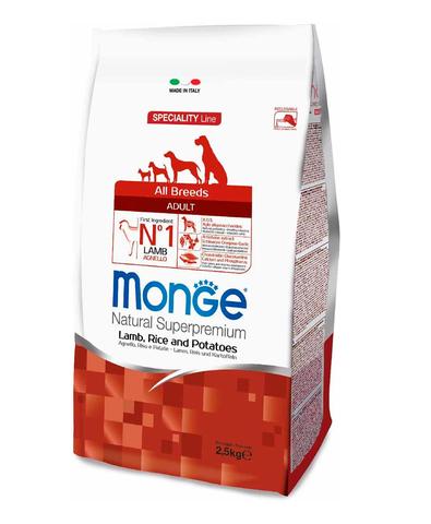 Monge Dog Speciality корм для собак всех пород ягненок с рисом и картофелем 2,5 кг