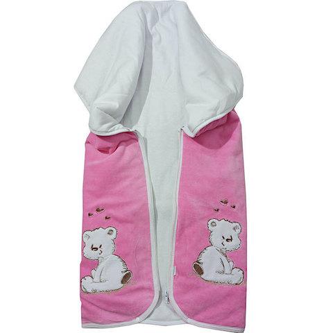 Папитто. Конверт-одеяло на молнии с вышивкой розовый