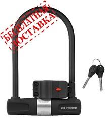 Велозамок FORCE U-lock 11,5см x 18,9см сталь, черный