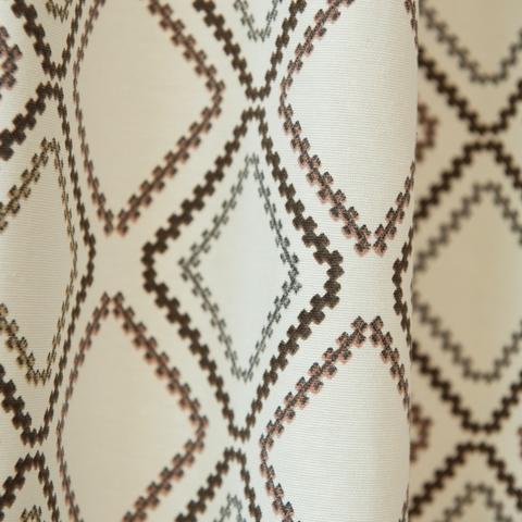 Римская штора из хлопка Мистик коричневый