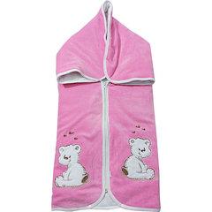 Папитто. Конверт-одеяло на молнии с вышивкой, розовый