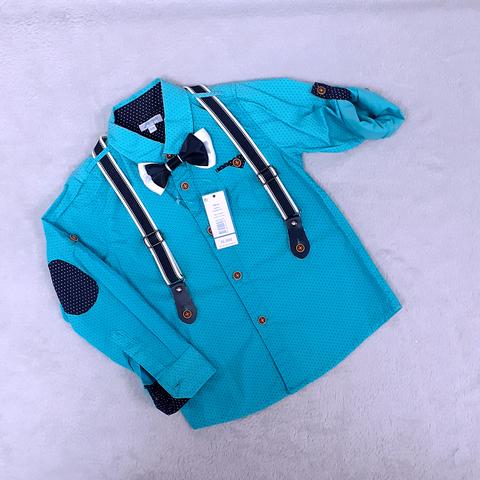 Рубашка+подтяжки+бабочка мальчику (3-4) 201223-Ш3258