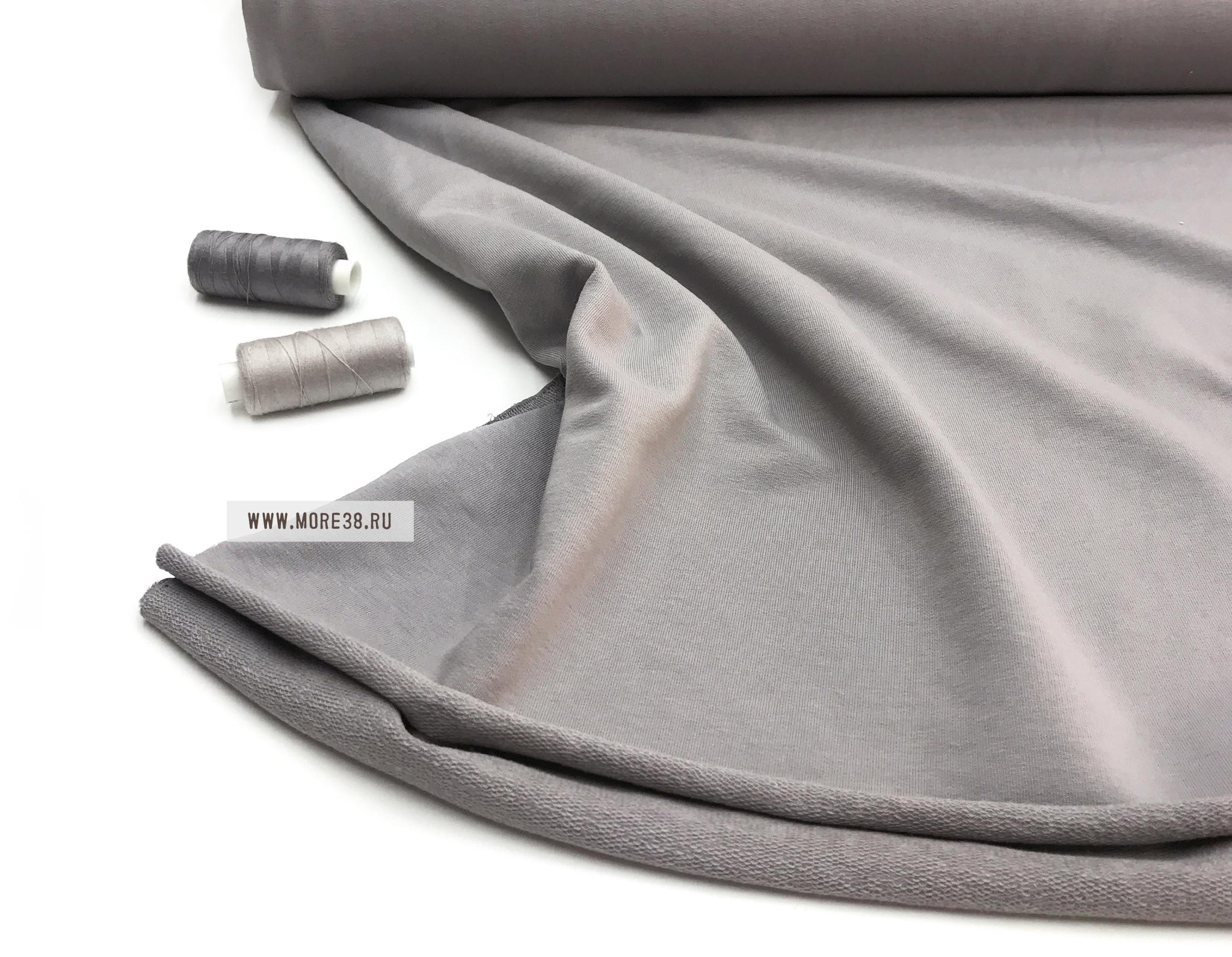 Футер 2х нитка петля, серый графит ,240 гр