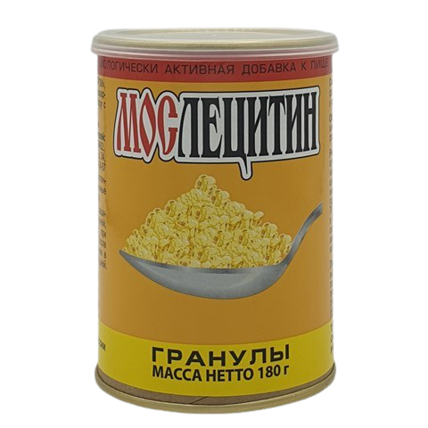 Лецитин соевый гранулированный порошок МОСЛЕЦИТИН, 180 гр