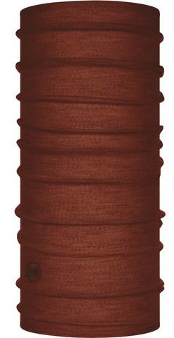 Тонкий шерстяной шарф-труба Buff Wool lightweight Solid Sienna фото 1