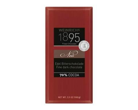 Горький шоколад 70% какао Weinrichs 1895, 100 г