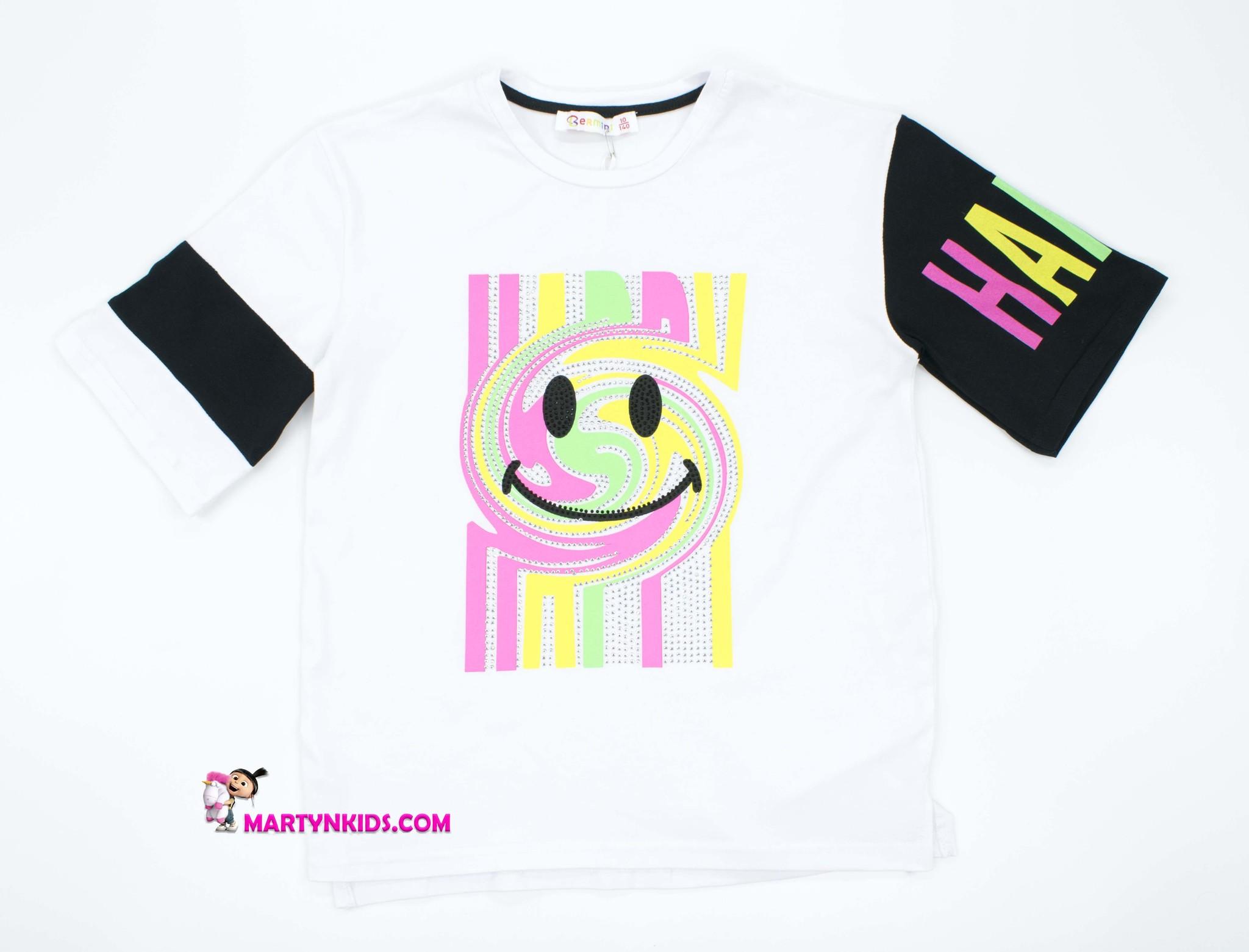 2412 футболка  HAPPY SMILE